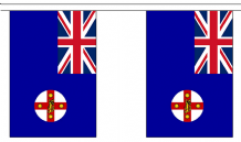 AUSTRALIA NEW SOUTH WALES BUNTING - 3 METRES 10 FLAGS